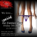 OFFICIAL NO PANTIES DAY!